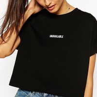 ASOS Cropped T-Shirt with Embroidered Unavailable