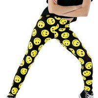 Smiley Happy Face Print Legging | Balera™