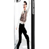 Marcel,harry Styles One Direction Custom Case for Iphone 5/5s Iphone 6/6 Plus Black and White (iPhone 6 Plus Black Plastic)