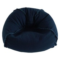 Large Canvas Bean Bag with Exposed Seams, Available in Multiple Colors - Walmart.com