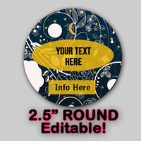 """Moon Lace """"EDITABLE"""" ROUND STICKER Instant Download -Soap labels-Lotion Labels-Body Butter Labels - Product Labels Editable - Scrapbooking"""