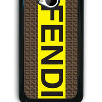 HTC One M7 Case - Hard (PC) Cover with fendi logo Plastic case Design