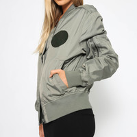 Rank Patch Bomber - Absent Green