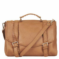 Whipstitch Satchel - Tan