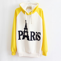 Embroidered Hooded Sweater Letters A 091108 a