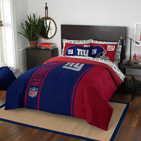 New York Giants NFL Full Comforter Bed in a Bag (Soft & Cozy) (76in x 86in)
