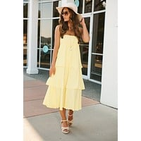 Daily Dose Of Love Maxi Skirt (Yellow)