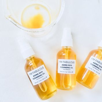 Aging Skin Cleaning Oil Organic and Vegan