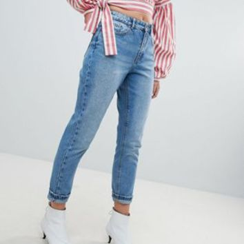 Only Washed Mom Jean at asos.com