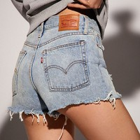 Levi's Frayed Denim Wedgie Short – Out Of The Blue | Urban Outfitters