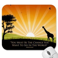 Gandhi Quote Mouse Pad from Zazzle.com