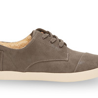 TOMS Grey Synthetic Leather Women's Paseos Grey 10