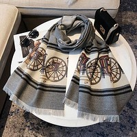 Hermes new letter fight carriage printing simple atmosphere fashion big style scarf