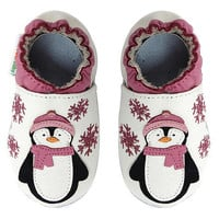 Momo Baby Girls Soft Sole Leather Shoes - Penguin