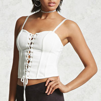 Lace-Up Bustier Top