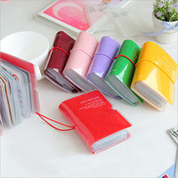 Pure Color Credit Card Case For Business Plastic Card Holder Mini Card Book - 32 Pocket