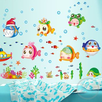 nemo fish sea cartoon wall sticker for shower tile stickers in the bathroom for children kids baby bath