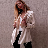Fashion Solid Color Strappy Cardigan Jacket Coat