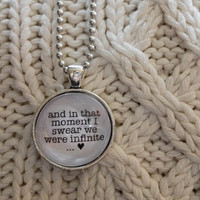 Perks of Being a Wallflower Quote Pendant Necklace