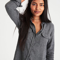 AE Ahh-Mazingly Soft Flannel Cabin Shirt, Charcoal