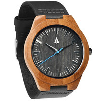 Wooden Watch // Bamboo Theo Blue