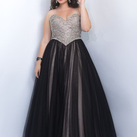 Embellished Bodice Plus Size Too Prom Dress by Blush 9103W