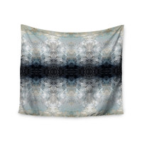 """Pia Schneider """"Heavenly Abstraction l"""" Blue Digital Wall Tapestry"""