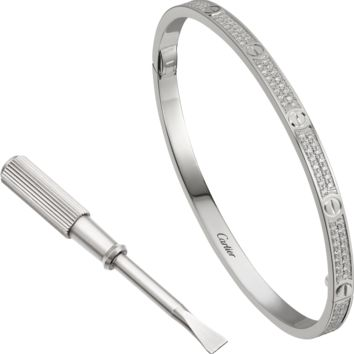 LOVE bracelet, SM: LOVE bracelet, small model, 18K white gold