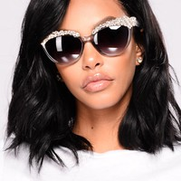 Crystal Clear View Sunglasses - Grey