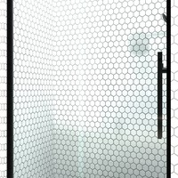 Gridscape GSF Eclipse Frameless Sliding Barn Door Shower Door in Black with Clear Glass