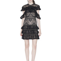 JOLIE RUFFLE TIER DRESS | Alice + Olivia