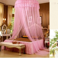 XDOBO Princess Round Lace Amazing Curtain Dome Canopy Netting Mosquito Net for All Size (beige)