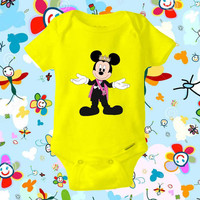 Prince Mickey Mouse Disney - baby shirt Onesuit, Mickey Mouse shirt Onesuit, Mickey Mouse baby Onesuit , Baby Clothing, baby gift Onesuit