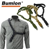 One Point Sling 1000D Heavy Duty Adjustable Bungee Rifle Shoulder Strap Length for Tactical Hunting Airsoft 30-0001