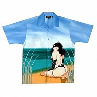 Bettie Page - At The Beach Club Shirt