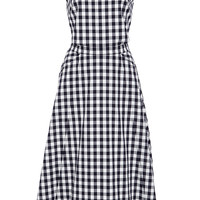 Textured Cotton Gingham Shirting Monica Dress
