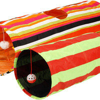 Collapsible Cat Tunnel Toys (2-Pack) - Interactive Cat Toys