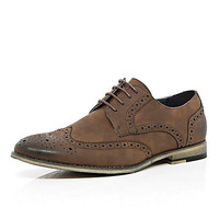 River Island MensBrown suede lace up brogues