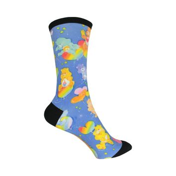 Classic Care Bear Crew Socks in Blue