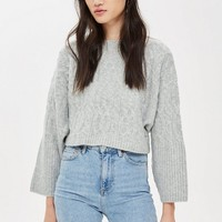 Cable Knit Crop Jumper | Topshop