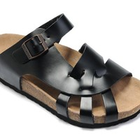 Birkenstock Pisa Sandals Leather Black - Ready Stock