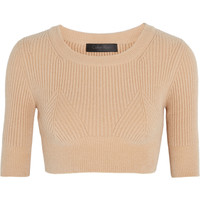 Calvin Klein Collection - Cropped ribbed knitted top