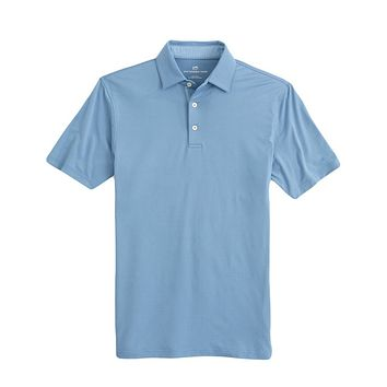 Ryder Contrast Trim Geo Print Performance Polo by Southern Tide
