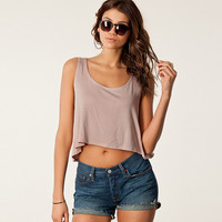 Sleeveless Heart Shape Back Cut Out Cropped Top