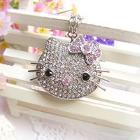 8GB Silver Hello Kitty Crystal with Necklace USB Flash Drive:Amazon:Computers & Accessories