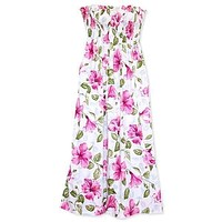 garden hawaiian maxi dress