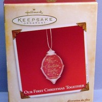 2004 Our First Christmas Together Hallmark Retired Ornament