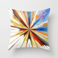 Colorful Splash Throw Pillow by SensualPatterns