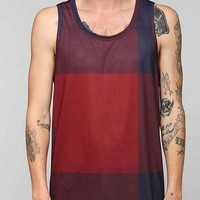 Explosion Plaid Tank Top- Red