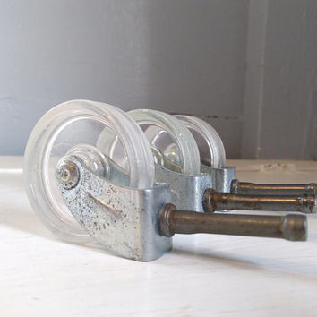 Vintage, 2 Inch, Bar Cart, Furniture Casters, Wheels, Furniture Wheels, Lot of Three, Furniture Hardware, 2 Inch Wheels, RhymeswithDaughter